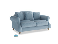 Small Sloucher Sofa in Chalky blue vintage velvet