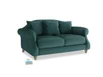 Small Sloucher Sofa in Timeless teal vintage velvet