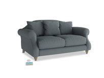 Small Sloucher Sofa in Meteor grey clever linen