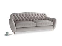 Large Butterbump Sofa in Soothing grey vintage velvet