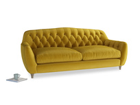 Large Butterbump Sofa in Burnt yellow vintage velvet