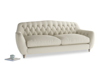 Large Butterbump Sofa in Pale rope clever linen