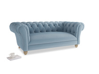 Medium Young Bean Sofa in Chalky blue vintage velvet
