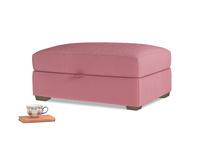 Bumper Storage Footstool in Blushed pink vintage velvet