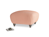 Small square footstool Homebody Footstool in Old rose vintage velvet