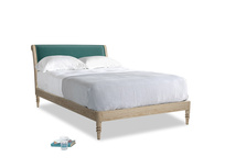 Double Darcy Bed in Timeless teal vintage velvet