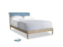 Double Darcy Bed in Easy blue clever linen