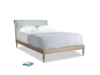 Double Darcy Bed in Quail's egg clever linen