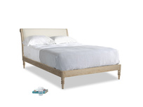 Double Darcy Bed in Pale rope clever linen