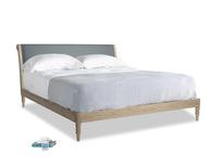 Superking Darcy Bed in Meteor grey clever linen
