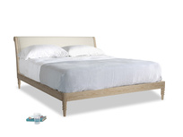 Superking Darcy Bed in Pale rope clever linen