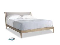 Superking Darcy Bed in Soothing grey vintage velvet