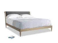 Superking Darcy Bed in Scuttle grey vintage velvet