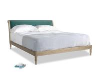 Superking Darcy Bed in Timeless teal vintage velvet
