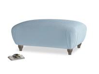 Rectangle Homebody Footstool in Chalky blue vintage velvet