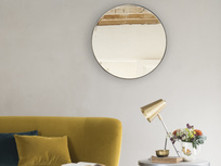 Borderless Jago round wall mirror