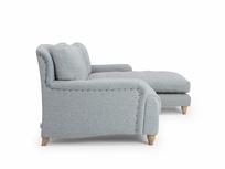 Handmade extra deep Pavlova chaise sofa