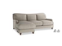 Large left hand Pavlova Chaise Sofa in Birch wool
