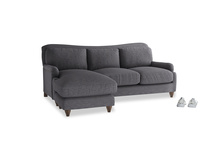 Large left hand Pavlova Chaise Sofa in Lead cotton mix