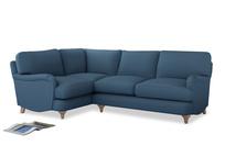 Large Left Hand Jonesy Corner Sofa in Easy blue clever linen