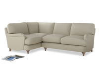 Large Left Hand Jonesy Corner Sofa in Pale rope clever linen