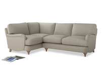 Large Left Hand Jonesy Corner Sofa in Thatch house fabric