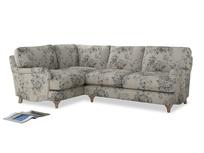 Large Left Hand Jonesy Corner Sofa in Dusty Blue vintage rose