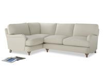 Large Left Hand Jonesy Corner Sofa in Oat brushed cotton