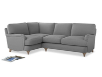 Large Left Hand Jonesy Corner Sofa in Magnesium washed cotton linen