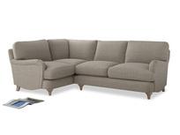 Large Left Hand Jonesy Corner Sofa in Birch wool