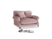 Crumpet Love seat in Chalky Pink vintage velvet