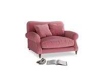 Crumpet Love seat in Blushed pink vintage velvet