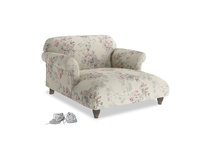 Soufflé Love Seat Chaise in Pink vintage rose