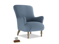 Gramps Armchair Armchair in Nordic blue brushed cotton