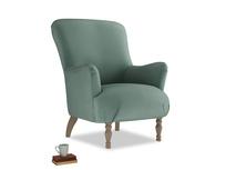 Gramps Armchair in Sea blue vintage velvet