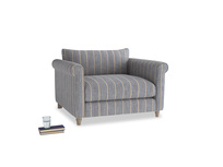 Weekender Love seat in Brittany Blue french stripe