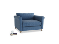 Weekender Love seat in Hague Blue cotton mix