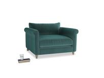 Weekender Love seat in Real Teal clever velvet