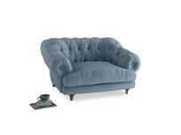 Bagsie Love Seat in Chalky blue vintage velvet