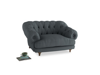 Bagsie Love Seat in Meteor grey clever linen