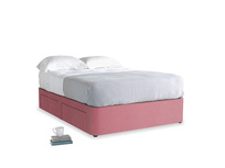 Double Tight Space Storage Bed in Blushed pink vintage velvet
