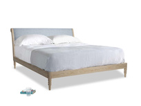 Superking Darcy Bed in Frost clever woolly fabric