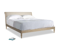 Superking Darcy Bed in Flagstone clever woolly fabric