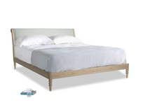 Superking Darcy Bed in Eggshell grey clever cotton
