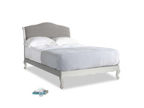 Double Coco Bed in Scuffed Grey in Marl grey clever woolly fabric