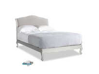 Double Coco Bed in Scuffed Grey in Lunar Grey washed cotton linen