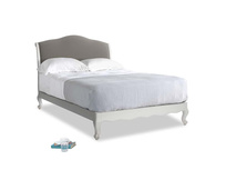 Double Coco Bed in Scuffed Grey in Monsoon grey clever cotton