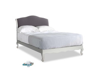 Double Coco Bed in Scuffed Grey in Graphite grey clever cotton