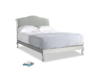 Double Coco Bed in Scuffed Grey in Eggshell grey clever cotton