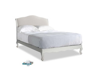 Double Coco Bed in Scuffed Grey in Chalk clever cotton